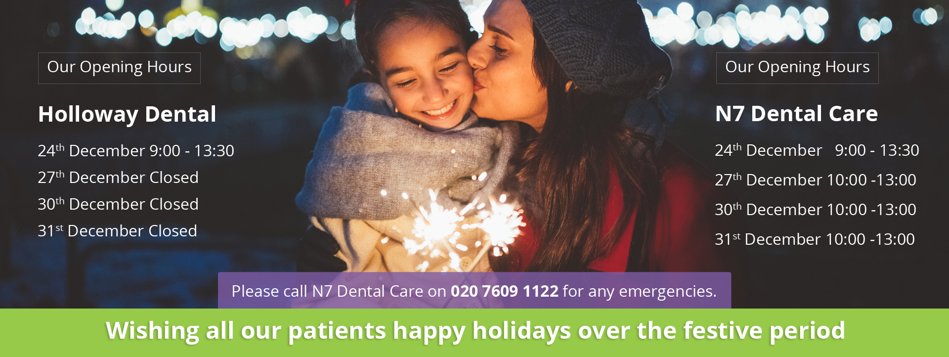 Wishing all our patients happy holidays over the festive period